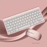Ultra Thin Mini Keyboard Suit 2 4 G Wireless Keyboard Rose Gold Intl Best Price