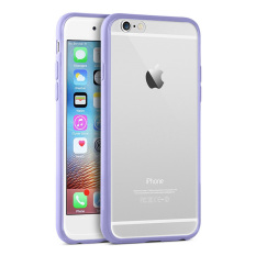 Review Ultra Thin Silicone Bumper Case W Clear Cover For Apple Iphone 6 Plus 6S Plus Light Purple Oem