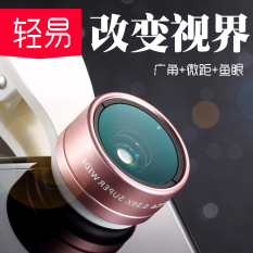 Wholesale Ultra Wide Angle Hd Iphone5S 6 Plus Universal Phone Lens Professional Slr Wide Angle Macro Three One