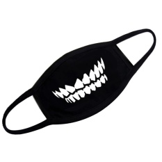 Unisex Fashion Black Cotton Breathable Anti-Dust Half Face Cover Mask Warm Mouth Mask For Traveling Cycling Shopping Teeth Style - Intl By Stoneky.