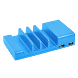 Price Universal 4 Port Mobile Phone Cell Phone Usb Charging Station Dock Stand Organizer For Iphone Samsung Tablet Smart Phone Blue Thinch New