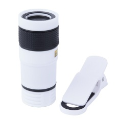 Universal 8x Zoom Optical Telephoto Telescope Lens For Phone Camera(white) - Intl By Crystalawaking.