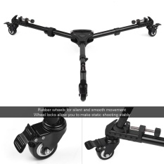 Coupon Universal Foldable Photography Heavy Duty Tripod Dolly Base Stand Flexible Wheels Adjustable Legs Max Load 25Kg With Carrying Bag Intl