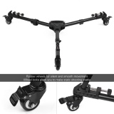 Price Comparisons Universal Foldable Photography Heavy Duty Tripod Dolly Base Stand Flexible Wheels Adjustable Legs Max Load 25Kg With Carrying Bag Intl
