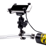 Universal Motorcycle Bike Handlebar Mount X Grip Holder Usb Charger Deal