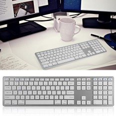 Universal Multi-Pairing Wireless Bluetooth Keyboard 104 Keys for PC/ Laptop/ Tablet - intl
