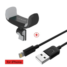 Usams 360 Degree Rotatable Air Vent Mount Car Phone Holder With Apple Usb Cable For Iphone 5 6 7 Intl Coupon Code