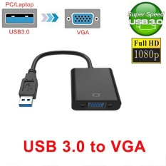 USB 3.0 2.0 to VGA 1080P Multi-display Adapter Converter For Computer Projector - intl