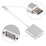 New Usb 3 1 Type C To Vga Video Adaptor Cable Connector Silver Intl