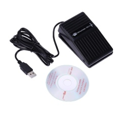 USB Foot Switch Pedal Control Keyboard Game Button for Desktop Laptop Black - intl