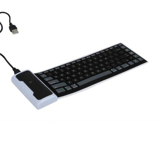 USB Mini Flexible Silicone Keyboard Foldable for Laptop Notebook BK Singapore