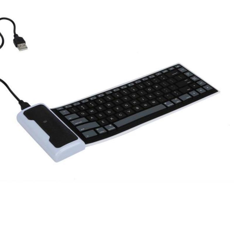 USB Mini Flexible Silicone Keyboard Foldable for Laptop Notebook BK Singapore