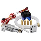 Cheap V6 J Head Extruder 1 75Mm Volcano Block Long Distance Nozzle Kits With Cooling Fan For 3D Printer Intl Online