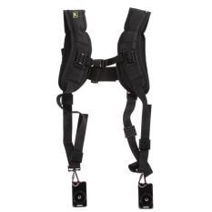Vakind Quick Rapid Double Dual Shoulder Sling Belt Strap For Twodslr Digital Camera (black) By Sportschannel.