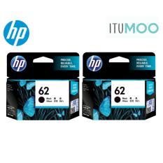 Value Twin Set Original Hp 62 Black Ink Cartridge For Hp Envy 5640 7640 Oj 5740 Printer Price