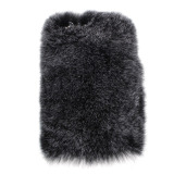 Wholesale Villi Fur Plush Wool Bling Artificial Fur And Plastic Case Skin For Iphone 6 Plus 5 5 Inch Grey