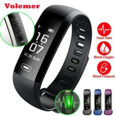 Best Price Volemer R5Max M2 Pro Smart Fitness Bracelet Watch Smartband Intelligent Display Blood Pressure Blood Oxygen Heart Rate Monitor Black Intl