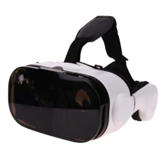 Vr Box With Bluetooth Headset Virtual Reality 3D Glasses Cardboard For Phone Intl Singapore