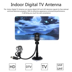 W16Ph08 Indoor Digital Tv Antenna 35Dbi High Gain Full Hd 1080P Vhf Uhf Dvb T Aerial Iec Connector For Dtv Tv Intl Compare Prices