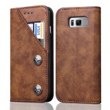Top 10 Wallet Phone Case With Card Slots Flip Cover For Samsung Galaxy Note 8 Intl