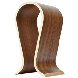 Discount Walnut Finish Wooden Headphones U Shape Stand Hanger Holder Intl Oem On China