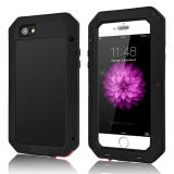 Waterproof Shockproof Aluminum Metal Gorrila Glass Cover Case For Apple Iphone 5S Black Intl Price Comparison