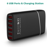Price Wavlink 6 Ports 60W 12A High Speed Usb 3 Wall Charger Portable Desktop Charging Station With Detachable Power Cord Adapter For Devices Intl Wavlink New