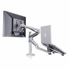Best Wego Fashion High Quality Adjustable Aluminium Universal Laptop Notebook Computer Monitor Stand Desk Mount Bracket Clamp Tilt Swivel Dual Arm Support Holder Laptop Monitor Intl