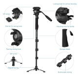 Purchase Weifeng Wf 3958M Professional Portable Aluminum Alloy Camera Monopod With Fluid Pan Head Unipod Holder 1 4 3 8 Scr*W Mounts Max Height 145Cm Max Load Capacity 5Kg Intl