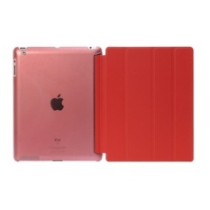 Sale Welink 2 In 1 Ipad 2 3 4 Case Plus Tempered Glass Tablet Smart Cover Slim Transparent Back Case For Apple Ipad 2 3 4 Red Welink On China