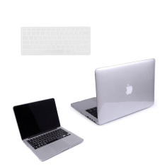 Welink 3 in 1 Apple MacBook Pro 13 Retina Case / Clear Crystal Case + Anti-dust Plug + Keyboard Cover for Apple MacBook Pro 13 with Retina [Models:A1425 / A1502] (Clear Crystal) - intl