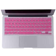 Welink Fashion Silicone US Keyboard Cover Waterproof Keyboard Protector Skin For Apple Macbook Air 11 Inch (Pink)