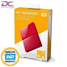 Western Digital Wd My Passport 1Tb External Hard Drive Red 3 Yrs Local Singapore Warranty Online