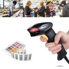 Wired Automatic Handheld Laser Barcode Scanner Reader Usb2.0 Wired For Supermarket Library Express Company Retail Store Warehouse Black - Intl By Tomtop.