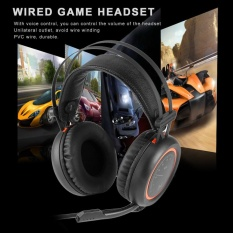 Wired Gaming Headphones USB 7.1 Surround Sound Headset with Mic for Computer - intl