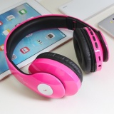 Retail Price Wireless Bluetooth Headphone Foldable Headset Noise Isolation Over Ear Earphone With Mic Support Fm Radio Aux Tf Card Mp3 Pink