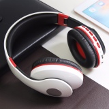 Wireless Bluetooth Headphone Foldable Headset Noise Isolation Over Ear Earphone With Mic Support Fm Radio Aux Tf Card Mp3 White Free Shipping