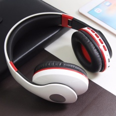 Best Buy Wireless Bluetooth Headphone Foldable Headset Noise Isolation Over Ear Earphone With Mic Support Fm Radio Aux Tf Card Mp3 White