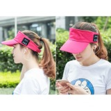 Wireless Bluetooth Sun Hat With Mic Adjustable Velcro Red Lowest Price