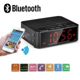 Coupon Wireless Desktop Bluetooth Time Led Display Alarm Clock With Stereo Speaker Fm Radio Black Intl