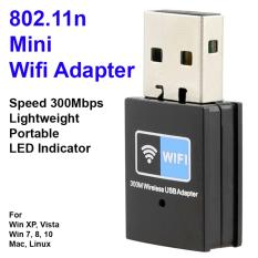Price Comparisons Wireless N300 2 4Ghz Usb Wifi Adapter ✮ 300Mbps ✮ Mini Size Portability