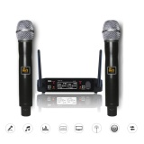 Cheap Wireless Uhf Professional Microphone 2 Channel Dual Lcd Handheld Mic System Kits Au Plug Intl Online