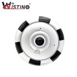 Great Deal Wistino 2 0Mp Hd 1080P Wireless Panoramic Wifi Ip Camera Fisheye Baby Monitor 360 Degree Cctv 3D Vr Video Cam Surveillance V380 Intl