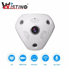Shop For Wistino 3 Megapixel Wireless 360 Degree Fisheye Panoramic Ip Camera Wifi Home Security Surveillance Camera Super Wide Angle Support Night Vision Motion Detection