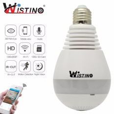 Wistino 960P Wifi Ip Camera Panoramic Vr Camera Bulb Light Wi Fi Fisheye Surveillance Wireless Cctv Home Security Alarm 1 3Mp Wistino Intl Coupon