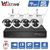 Get Cheap Wistino Hd 4Ch 720P Wireless Nvr Kit P2P Outdoor Ir Night Vision Security Wifi Ip Camera Cctv System Plug And Play Street Intl