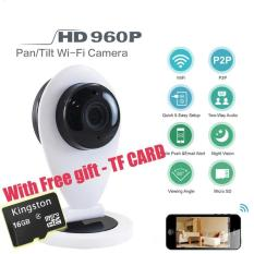 Best Price With Free 16G Tf Card Mini Wireless Wifi 960P Hd Smart Ip Camera P2P Baby Monitor Cctv Security Network Camera Night Vision Mobile Remote Cam Intl