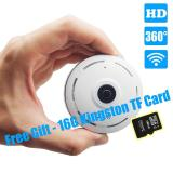 Price Comparison For With Free 16G Tf Card Panoramic Wifi Hd 1080P Home Business Security Ip Camera With Real Time 32Ft Night View 360 Degree Coverage Without Any Blind Spot Intl