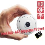 Best Offer With Free 64G Tf Card Panoramic Wifi Hd 960P Home Business Security Ip Camera With Real Time 32Ft Night View 360 Degree Coverage Without Any Blind Spot Intl