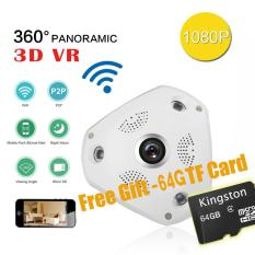 Where Can You Buy With Free 64G Tf Card Wifi 1080P 360 Degree Fisheye Panoramic Camera Hd Wireless Vr Ip Camera P2P Indoor Security Wifi Camera Intl